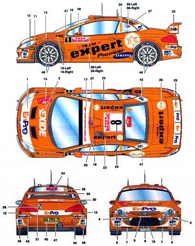 プジョー 307WRC #8 expert モンテカルロ 2006デカール(スタジオ27ラリーカー オリジナルデカールNo.DC733C)商品画像_2