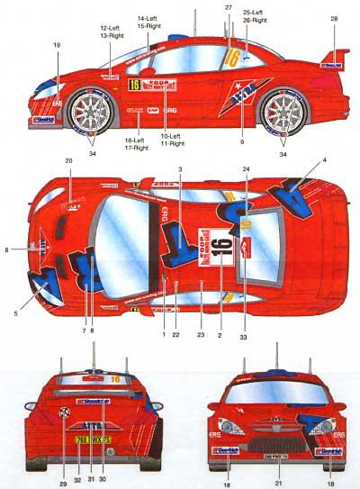 プジョー 307WRC #16 ASTRA モンテカルロ 2006デカール(スタジオ27ラリーカー オリジナルデカールNo.DC735C)商品画像_2