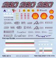 タブデザイン1/24 デカールフェラーリ F360 チャレンジ用 デカール