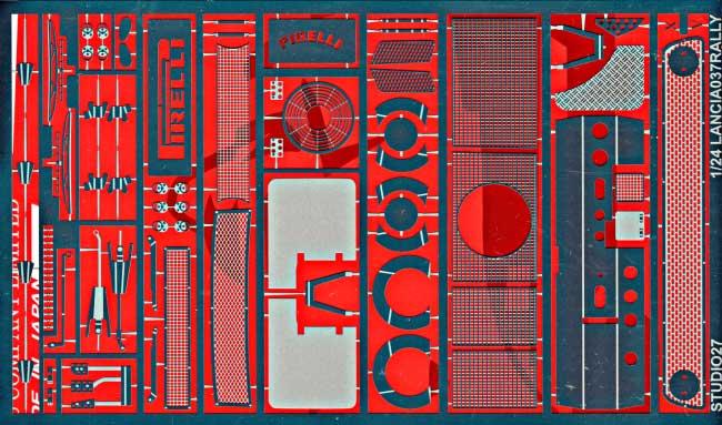 ランチア 037 ラリー グレードアップパーツエッチング(スタジオ27ラリーカー グレードアップパーツNo.FP2434B)商品画像_1