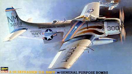 A-1H スカイレーダー U.S.ネイビー w/通常爆弾プラモデル(ハセガワ1/72 飛行機 BPシリーズNo.105)商品画像
