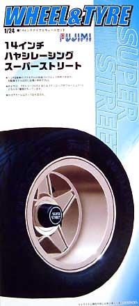 ハヤシレーシング スーパーストリート (14インチ)プラモデル(フジミ1/24 パーツメーカーホイールシリーズNo.053)商品画像