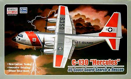 C-130 コーストガードプラモデル(ミニクラフト1/144 軍用機プラスチックモデルキットNo.14524)商品画像
