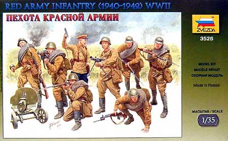 ソビエト歩兵 WW2 (1940-42)プラモデル(ズベズダ1/35 ミリタリーNo.3526)商品画像