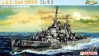 ドラゴン1/700 Modern Sea Power SeriesU.S.S サンディエゴ (CL-53) (プレミアムエディション)