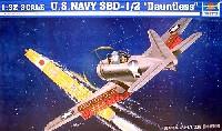 トランペッター1/32 エアクラフトシリーズアメリカ海軍急降下爆撃機 SBD-1/2 ドーントレス