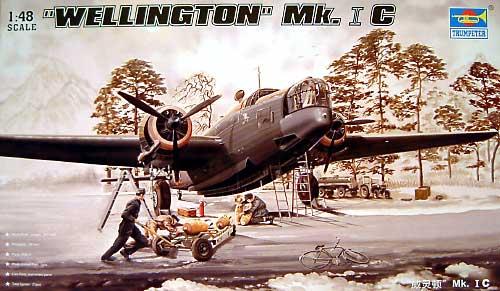 ウェリントン Mk.1C型プラモデル(トランペッター1/48 エアクラフト プラモデルNo.02808)商品画像