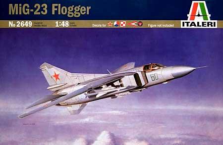 ミグ23 フロッガープラモデル(イタレリ1/48 飛行機シリーズNo.2649)商品画像
