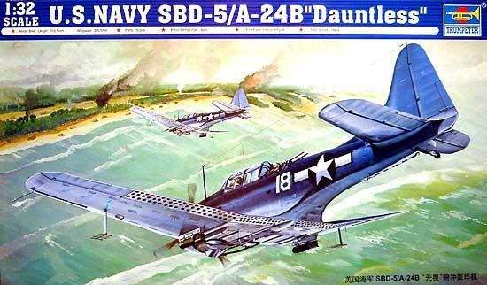 アメリカ海軍急降下爆撃機 SBD-5/A24B ドーントレスプラモデル(トランペッター1/32 エアクラフトシリーズNo.02243)商品画像