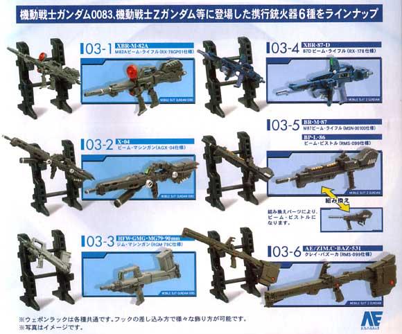 U.C.ARMS GALLERY 03  一年戦争後期 グリプス戦記中期 (1BOX=12個入)完成品(バンダイU.C.ARMS GALLERYNo.003B)商品画像_2