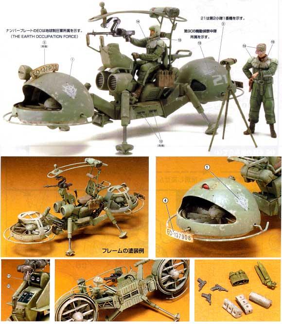 ジオン公国 機動偵察セットプラモデル(バンダイU.C. ハードグラフNo.001)商品画像_2
