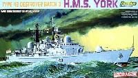 ドラゴン1/700 Modern Sea Power Seriesイギリス海軍 Type42 バッチ3 駆逐艦 HMS ヨーク