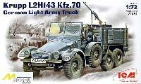 ICM1/72 ミリタリービークルドイツ Kfz.70 クルップボクサー L2H143 兵員輸送車