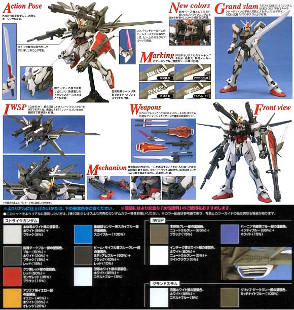 GAT-X105 ストライクガンダム + I.W.S.P.プラモデル(バンダイMG (マスターグレード)No.0146728)商品画像_2