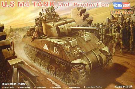 M4 シャーマン 中期型プラモデル(ホビーボス1/48 ファイティングビークル シリーズNo.84802)商品画像