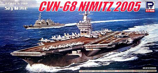 アメリカ海軍 ニミッツ級原子力空母 CVN-68 ニミッツ 2005プラモデル(ピットロード1/700 スカイウェーブ M シリーズNo.M-034)商品画像