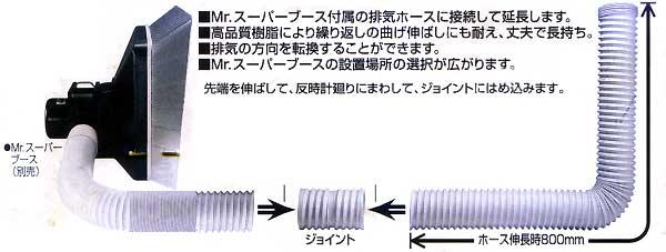 Mr.スーパーブース用 延長ダクトホースツール(GSIクレオスGツールNo.GT003D)商品画像_1