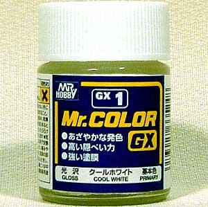 クールホワイト (光沢)塗料(GSIクレオスMr.カラー GXNo.GX-001)商品画像