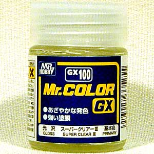 スーパークリアー 3 (光沢)塗料(GSIクレオスMr.カラー GXNo.GX-100)商品画像