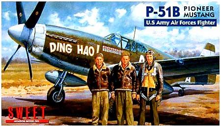 P-51B パイオニア マスタングプラモデル(SWEET1/144スケールキットNo.016)商品画像