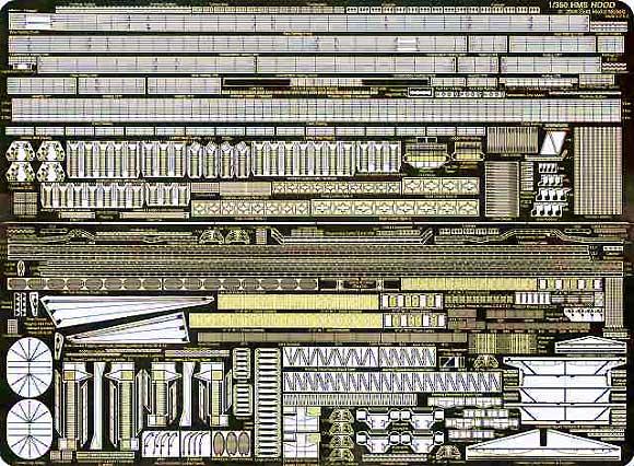 英海軍 巡洋戦艦 フッド用 基本パーツエッチング(ゴールドメダルモデル1/350 艦船用エッチングパーツシリーズNo.GM3537)商品画像_2