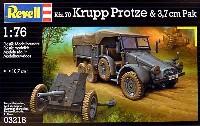 レベル1/76 ミリタリーKfz.70 クルッププロッツェ & 37mm砲