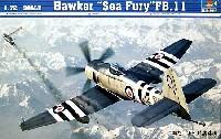 トランペッター1/72 エアクラフト プラモデルホーカー シーフューリー FB.11
