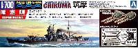 アオシマ1/700 ウォーターラインシリーズ スーパーディテール日本重巡洋艦 筑摩 (エッチング & メタルパーツ付)