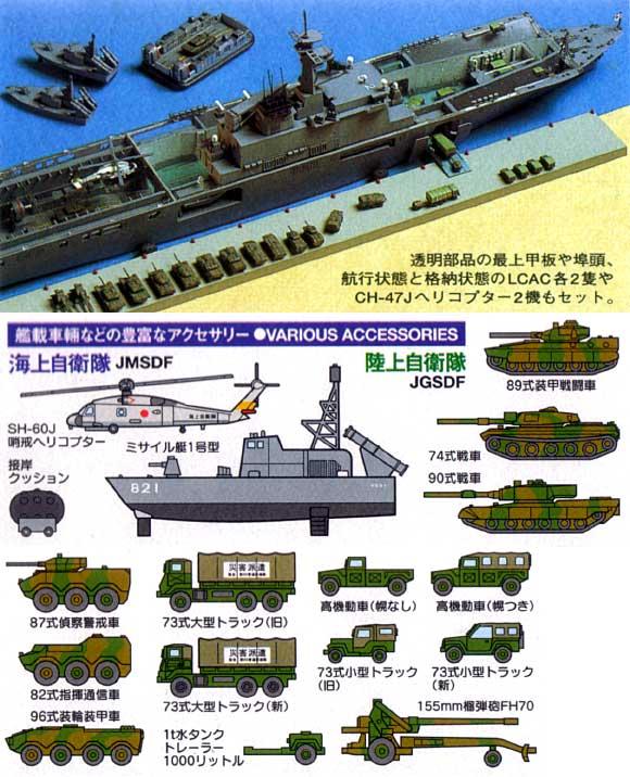 海上自衛隊輸送艦 LST-4002 しもきたプラモデル(タミヤ1/700 ウォーターラインシリーズNo.006)商品画像_2