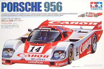 ポルシェ 956 (キャノンカラー)プラモデル(タミヤ1/24 スポーツカーシリーズNo.232)商品画像