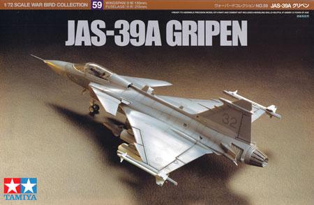 JAS-39A グリペンプラモデル(タミヤ1/72 ウォーバードコレクションNo.059)商品画像