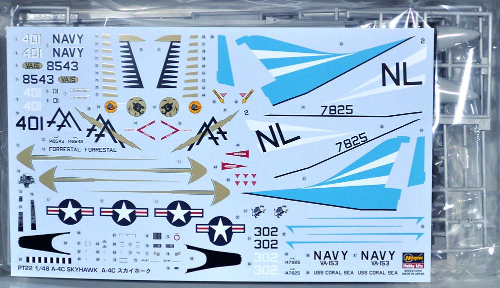 A-4C スカイホークプラモデル(ハセガワ1/48 飛行機 PTシリーズNo.PT022)商品画像_1