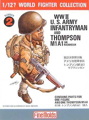 アメリカ陸軍歩兵 ロジャース軍曹 / トンプソンM1A1プラモデル(ファインモールド1/12 ワールドファイターコレクションNo.FT002)商品画像
