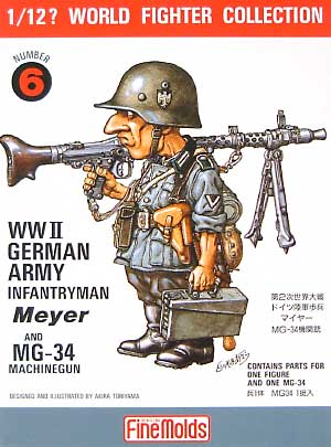 ドイツ陸軍歩兵 マイヤー / MG34機関銃プラモデル(ファインモールド1/12 ワールドファイターコレクションNo.FT006)商品画像