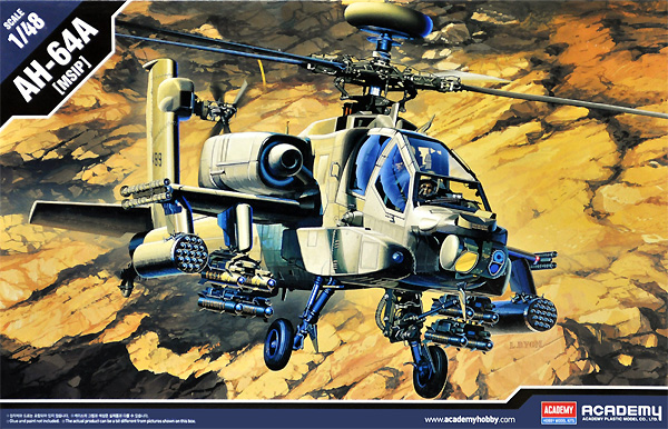 AH-64A アパッチ MSIPプラモデル(アカデミー1/48 AircraftsNo.12262)商品画像