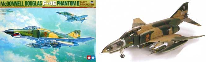 マクダネルダグラス F-4E ファントムII 初期生産型プラモデル(タミヤ1/32 エアークラフトシリーズNo.10)商品画像
