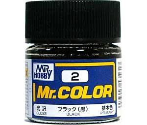 ブラック (黒) (光沢) (C-2)塗料(GSIクレオスMr.カラーNo.C-002)商品画像