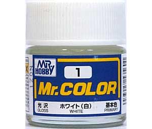 ホワイト (白) (光沢) (C-1)塗料(GSIクレオスMr.カラーNo.C-001)商品画像