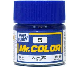 ブルー (青) (光沢) (C-5)塗料(GSIクレオスMr.カラーNo.C-005)商品画像