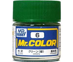 グリーン (緑) (光沢) (C-6)塗料(GSIクレオスMr.カラーNo.C-006)商品画像