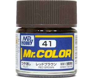 レッドブラウン (つや消し) (C-41)塗料(GSIクレオスMr.カラーNo.C-041)商品画像