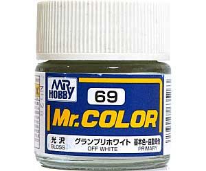 グランプリホワイト (光沢) (C-69)塗料(GSIクレオスMr.カラーNo.C-069)商品画像