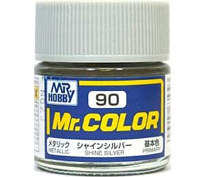 シャインシルバー (メタリック) (C-90)塗料(GSIクレオスMr.カラーNo.C-090)商品画像