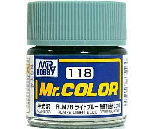 RLM78 ライトブルー (半光沢) (C-118)塗料(GSIクレオスMr.カラーNo.C-118)商品画像