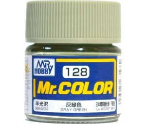 灰緑色 (半光沢) (C-128)塗料(GSIクレオスMr.カラーNo.C-128)商品画像
