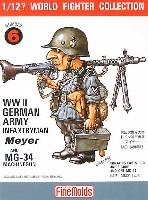 ファインモールド1/12 ワールドファイターコレクションドイツ陸軍歩兵 マイヤー / MG34機関銃