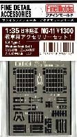ファインモールド1/35 ファインデティール アクセサリーシリーズ(AFV用)三式中戦車用 アクセサリーセット