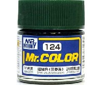 暗緑色 (三菱系) (半光沢) (C-124)