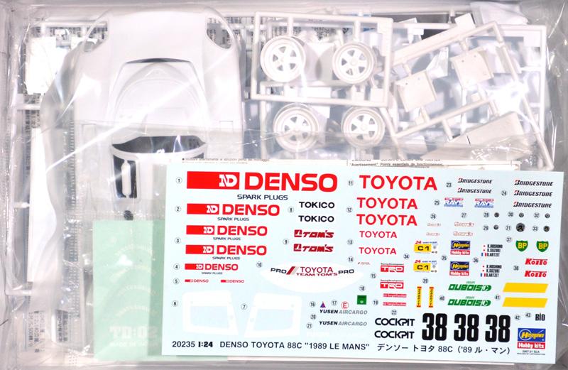 デンソー トヨタ 88C '89 ル・マンプラモデル(ハセガワ1/24 自動車 CCシリーズNo.20235)商品画像_1