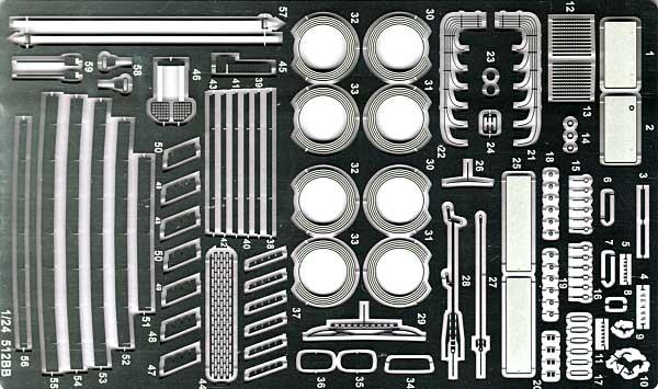 フェラーリ 512BB グレードアップパーツエッチング(スタジオ27ツーリングカー/GTカー デティールアップパーツNo.FP24104)商品画像_1